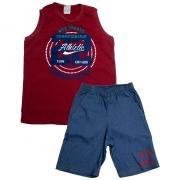 Conjunto Infantil NYC Sports Vermelho