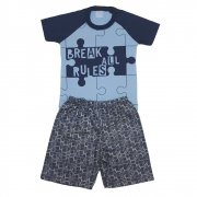 Conjunto Infantil Quebra Cabeça Azul