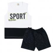 Conjunto Infantil Regata Sport Branco