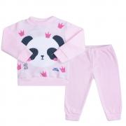 Conjunto Infantil Soft Panda Rosa