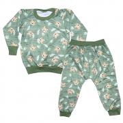 Conjunto Infantil Sublimado Tigres Verde