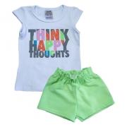 Conjunto Infantil Think Happy Branco