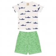 Conjunto Infantil Tubarões Pérola
