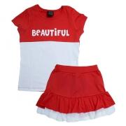 Conjunto Juvenil Beautiful Vermelho
