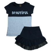 Conjunto Juvenil Beautiful Preto