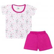 Conjunto Pijama Infantil Dogs Branco