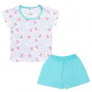 Conjunto Pijama Bebê Ovelhinha Branco