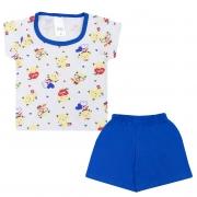 Conjunto Pijama Bebê Raposa Branco