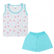 Conjunto Pijama Infantil Ovelhinha Branco