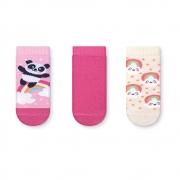 Kit Meias Soquete Bebê Panda