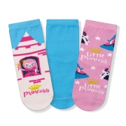 Kit Meias Soquete Infantil Princess