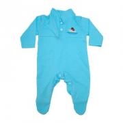 Macacão Bebê Com Aplique  Azul