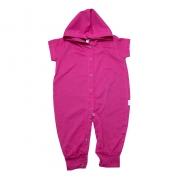 Macacão Bebê Com Capuz Pink