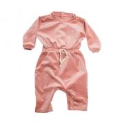 Macacão Bebê Com Elástico  Na Cintura Rosê