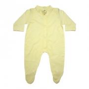 Macacão Bebê Com Pézinho  Amarelo