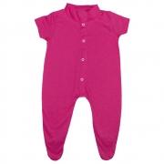 Macacão Bebê Com Pézinho Pink