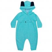 Macacão Bebê Gatinho Azul