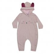 Macacão Bebê Gatinho Rosê