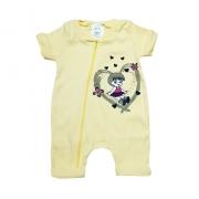 Macacão Bebê Menina  Amarelo