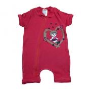 Macacão Bebê Menina Vermelho