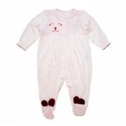 Macacão Bebê Plush Estampado Rosa
