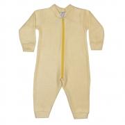 Macacão Bebê Soft Amarelo Claro
