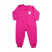 Macacão Bebê Ursinha Com Zíper Pink