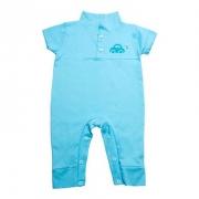 Macaquinho Bebê Aplique  Azul