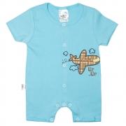 Macaquinho Bebê Avião  Azul
