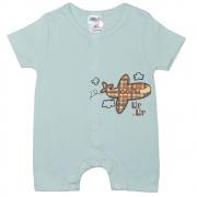 Macaquinho Bebê Avião Verde