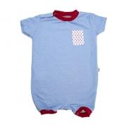 Macaquinho Bebê Bolso Azul