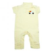 Macaquinho Bebê Com Aplique Amarelo