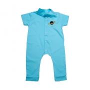 Macaquinho Bebê Com Aplique Azul