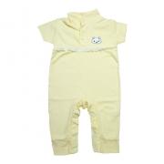 Macaquinho Bebê Com Aplique e Rendinha  Amarelo