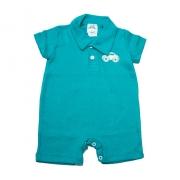 Macaquinho Bebê Com Aplique  Verde