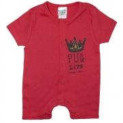 Macaquinho Bebê Coroa  Vermelho