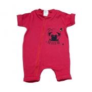 Macaquinho Bebê Dog Astronauta  Vermelho