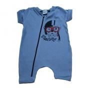 Macaquinho Bebê Dog  Azul