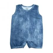 Macaquinho Bebê Molecotton Azul