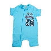 Macaquinho Bebê Race Ace  Azul