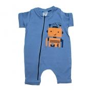 Macaquinho Bebê Robô Azul