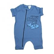 Macaquinho Bebê Tubarão  Azul