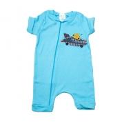 Macaquinho Bebê Urso Aviador Azul
