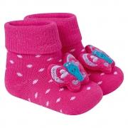 Meia Divertida Bebê Borboleta Pink