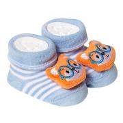 Meia Divertida Bebê RN Raposa Azul