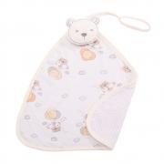 Naninha Bebê Com Prendedor de Chupeta Urso Bege