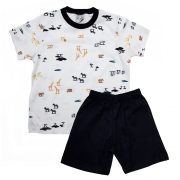 Pijama Infantil Animais Pérola
