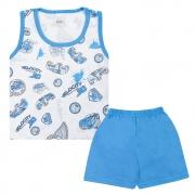 Pijama Infantil Carros Branco