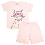 Pijama Infantil Cat Rosa