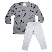 Pijama Infantil Menina Mescla
